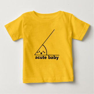 Lustiger spitzer Winkel geeky Baby T-shirt
