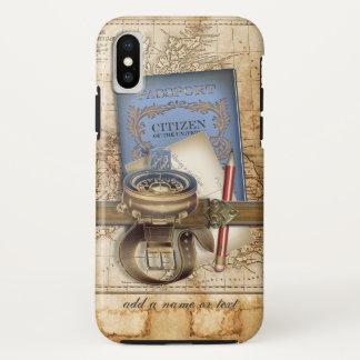 Lustiger Steampunk Reisender iPhone X Hülle
