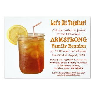 Lustiger südlicher Familien-Wiedersehen-Bonbon-Tee 12,7 X 17,8 Cm Einladungskarte