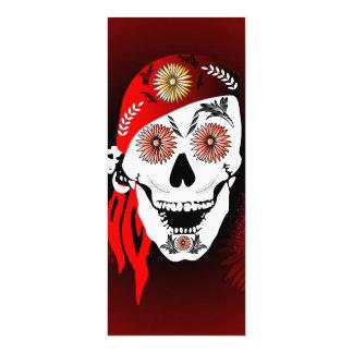 Lustiger suger Schädel mit rotem Kopftuch 10,2 X 23,5 Cm Einladungskarte