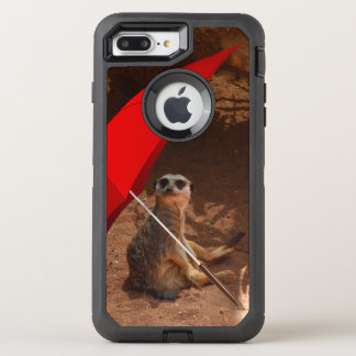 Lustiger Sun intelligentes Meerkat unter OtterBox Defender iPhone 8 Plus/7 Plus Hülle