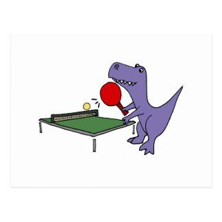 Lustiger T-Rex Dinosaurier, der Klingeln Pong Postkarte