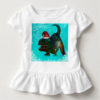 Lustiger T-rex Wunsch Sie frohen Weihnachten Kleinkind T-shirt