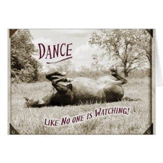 Lustiger Tanz wie niemand passt Pferdekarte auf Mitteilungskarte