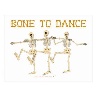 Lustiger Tanzen-Skelett-Knochen, zum des Cartoon Postkarte