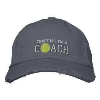 Lustiger Tennis-Trainer Bestickte Baseballmützen