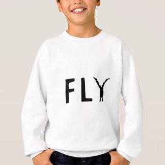 Lustiger Text der Fliege und menschlicher Entwurf Sweatshirt