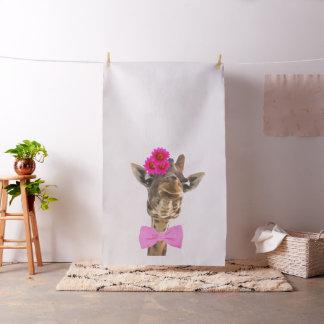 Lustiger Tiergiraffe Watercolor scherzt Stoff
