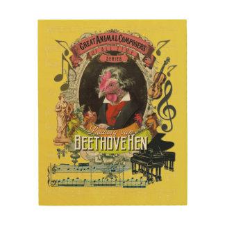 Lustiger Tierkomponist Beethoven Ludwigs Holzwanddeko