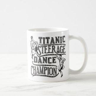 Lustiger titanischer Steerage Tanz-Meister Kaffeetasse