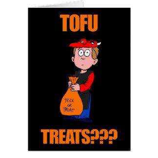 Lustiger Tofu Halloween Karte