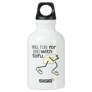Lustiger TOFU Läufer Wasserflasche