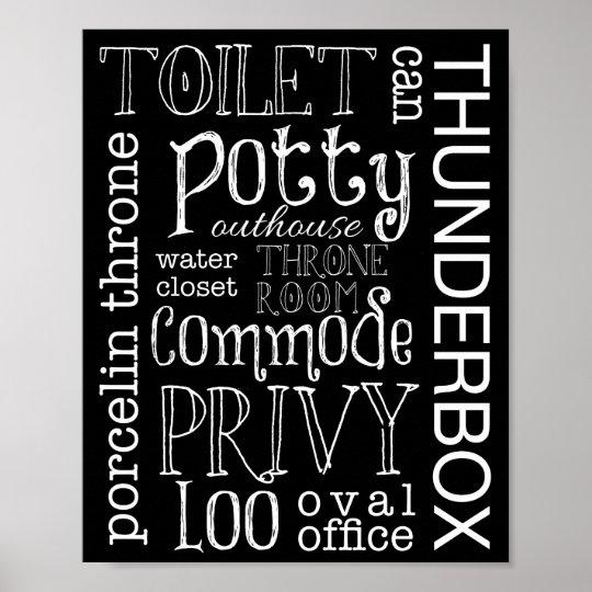 Lustiger Toiletten Badezimmer Zeichen Plakat Druck Poster Zazzle De