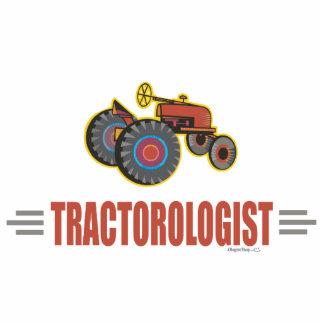 Lustiger Traktor Freistehende Fotoskulptur