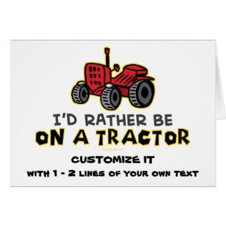 Lustiger Traktor Karte