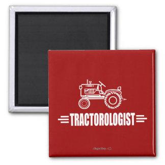 Lustiger Traktor Quadratischer Magnet