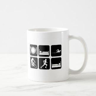 Lustiger Triathlon Kaffeetasse