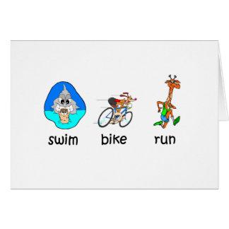 Lustiger Triathlon Karte