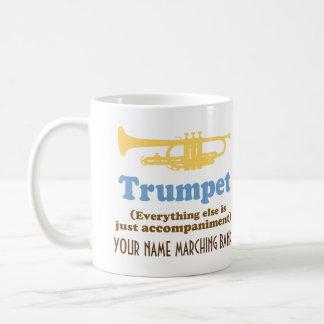 Lustiger Trompete-Witz-personalisierte Kaffeetasse