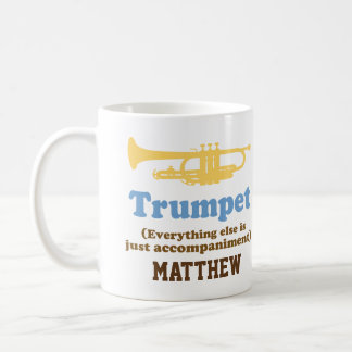 Lustiger Trompete-Witz-personalisierte Musik-Tasse Kaffeetasse