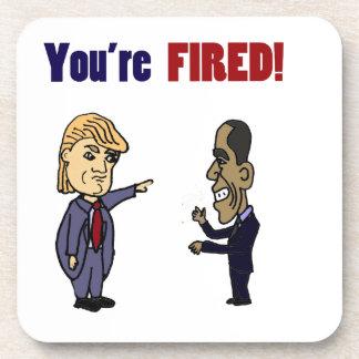 Lustiger Trumpf, der politischen Cartoon Obama Untersetzer