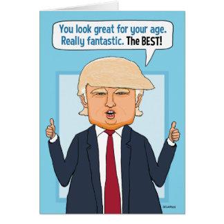 Lustiger Trumpf-nicht Fake-Nachrichten-Geburtstag Karte