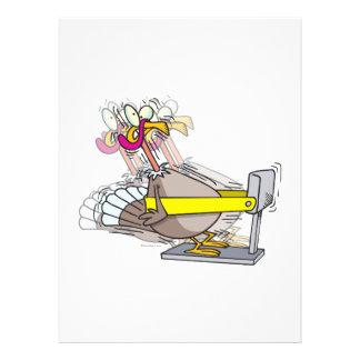 lustiger Truthahn-Erntedank-Diät-Cartoon Einladungskarte