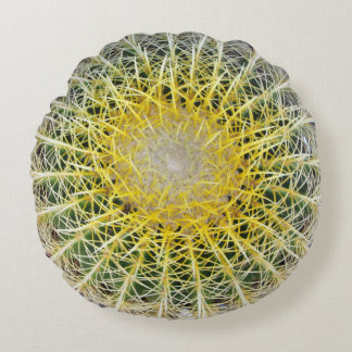 Lustiger unbequemer botanischer Kugel-Kaktus Rundes Kissen