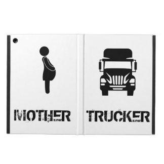Lustiger und cooler Mutter-Fernlastfahrer durch
