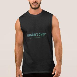 Lustiger Undercover glänzender Türkis-Text alle Ärmelloses Shirt
