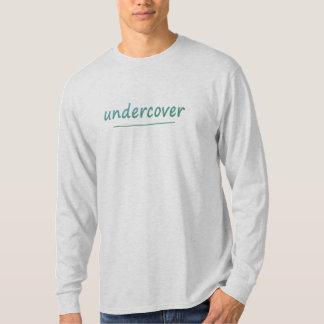Lustiger Undercover glänzender Türkis-Text alle T-Shirt