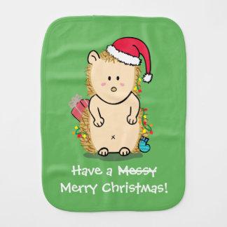 Lustiger unordentlicher frohe Weihnacht-Igel Spucktuch