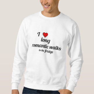 Lustiger Valentine - lange romantische Wege zum Sweatshirt