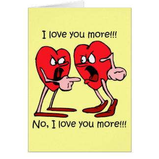 Lustiger Valentinstag Grußkarte