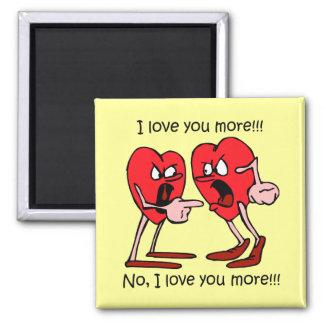 Lustiger Valentinstag Quadratischer Magnet