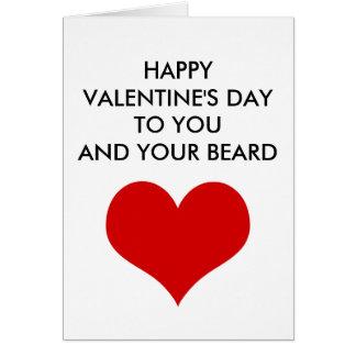 Lustiger Valentinstag Zu Ihnen Und Zu Ihrem Bart Karte