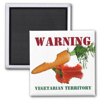 Lustiger Vegetarier/veganes Gebiet Quadratischer Magnet