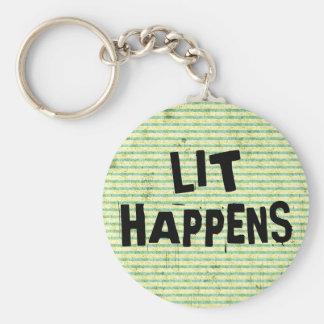Lustiger Verfasser-Leser-Lit geschieht Schlüsselanhänger