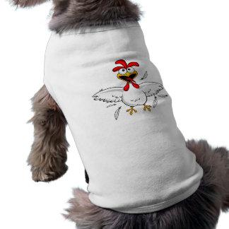 Lustiger verrückter Cartoon-HühnerflügelFling T-Shirt