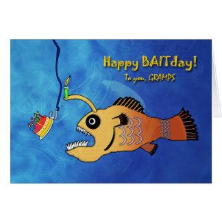 Lustiger verspäteter Geburtstag für Gramps, Grußkarte