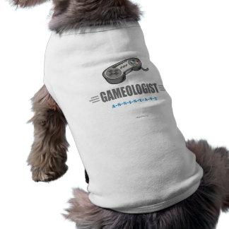 Lustiger VideoGamer Ärmelfreies Hunde-Shirt