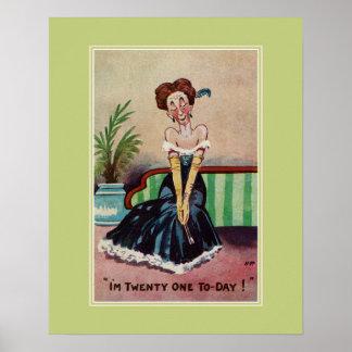 Lustiger Vintager 21. Geburtstag für sie Poster