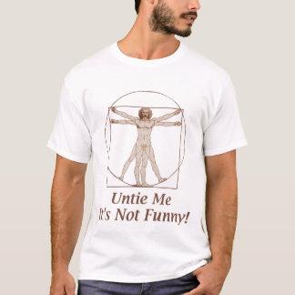 Lustiger Vitruvian Mann-T - Shirt