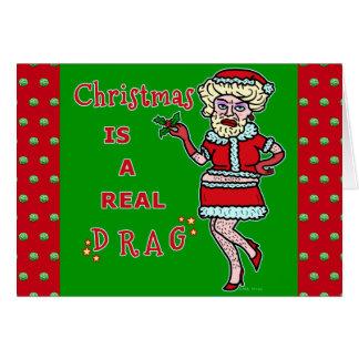 Lustiger WeihnachtenBah Humbug Sankt im Widerstand Karte