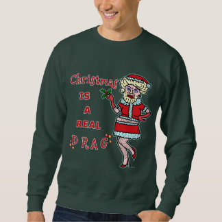 Lustiger WeihnachtenBah Humbug Sankt im Widerstand Sweatshirt