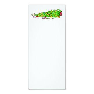 Lustiger Weihnachtsbaum-Spaß 10,2 X 23,5 Cm Einladungskarte