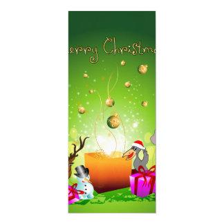 Lustiger WeihnachtsCartoon 10,2 X 23,5 Cm Einladungskarte