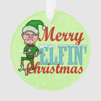 Lustiger Weihnachtself fröhlicher ElfenBah Humbug Ornament