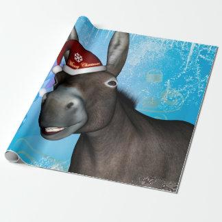 Lustiger Weihnachtsesel Geschenkpapier