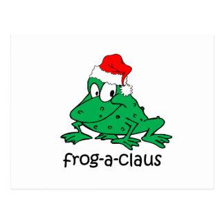 Lustiger Weihnachtsfrosch Postkarte